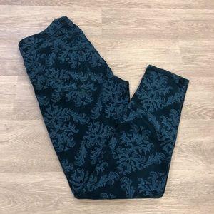 Hudson Nico Super Skinny Velvet Brocade Jeans 30